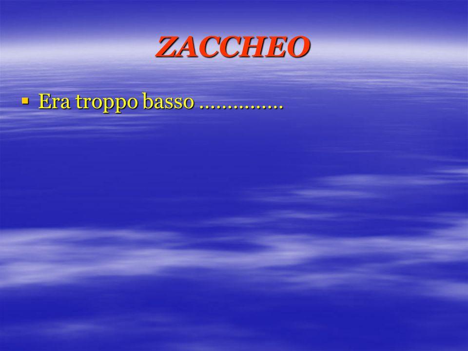 ZACCHEO  Era troppo basso ……………