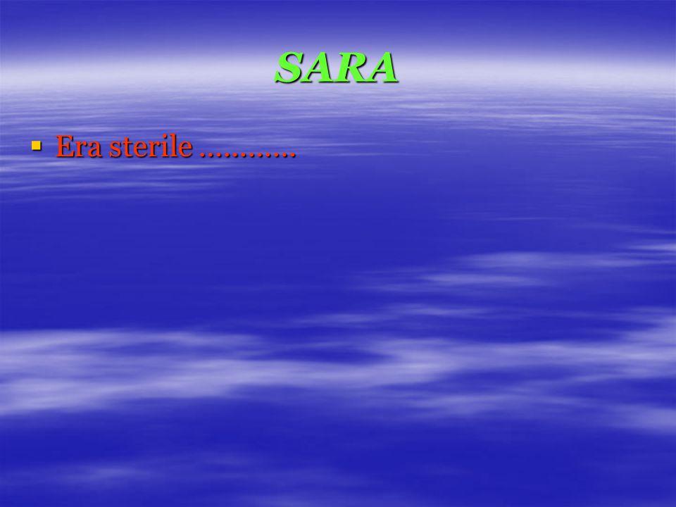 SARA  Era sterile …………