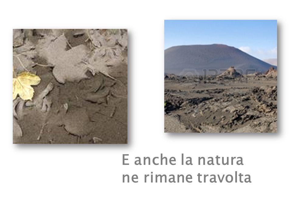 In seguito all'eruzione, la lava comincia a solidificarsi…