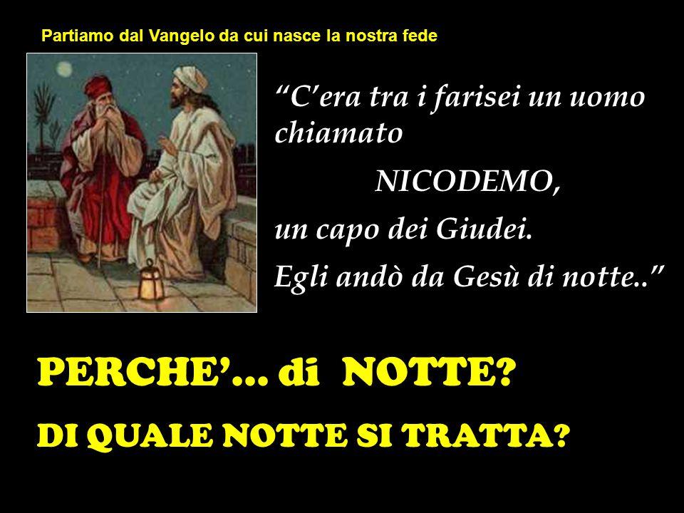 """""""C'era tra i farisei un uomo chiamato NICODEMO, un capo dei Giudei. Egli andò da Gesù di notte.."""" PERCHE'... di NOTTE? DI QUALE NOTTE SI TRATTA? Parti"""