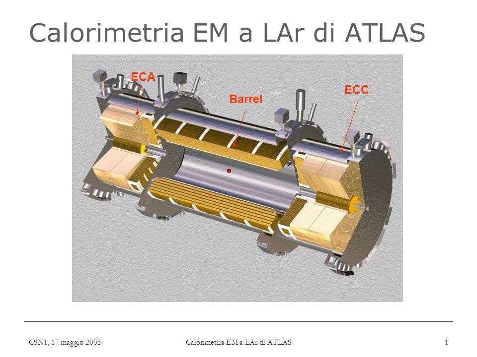CSN1, 17 maggio 2005 Calorimetria EM a LAr di ATLAS 1 ECA Barrel ECC