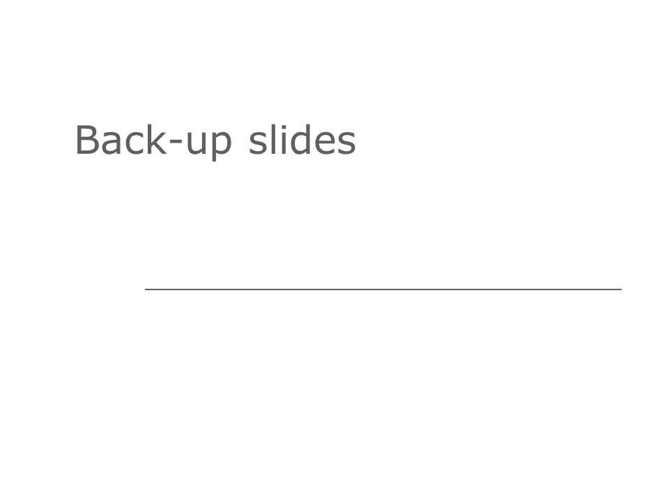 Back-up slides