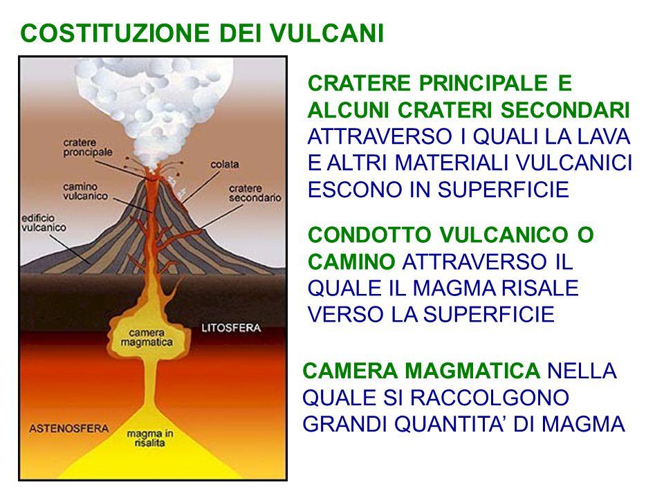 VULCANI SOTTOMARINI La maggior parte dei vulcani si trova sui fondali oceanici, a circa 2000 m di profondità e sono concentrati lungo le dorsali oceaniche, catene montuose sottomarine che attraversano gli oceani.