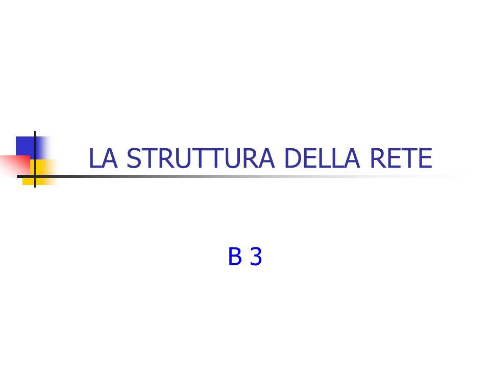 LA STRUTTURA DELLA RETE B 3
