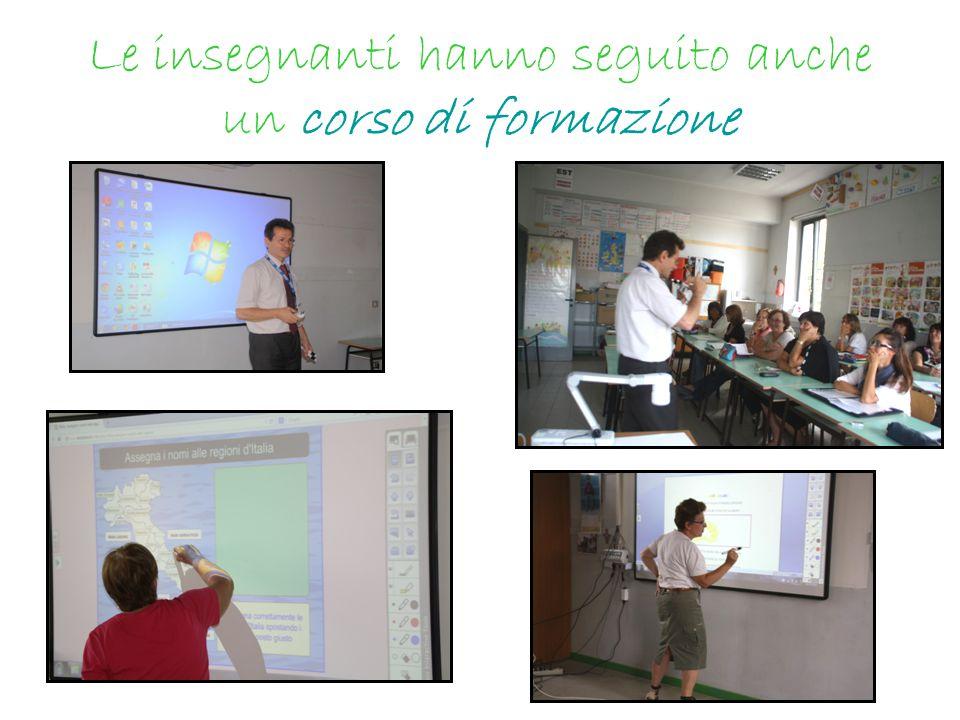 Le insegnanti hanno seguito anche un corso di formazione