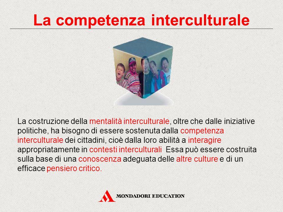 La costruzione della mentalità interculturale, oltre che dalle iniziative politiche, ha bisogno di essere sostenuta dalla competenza interculturale de