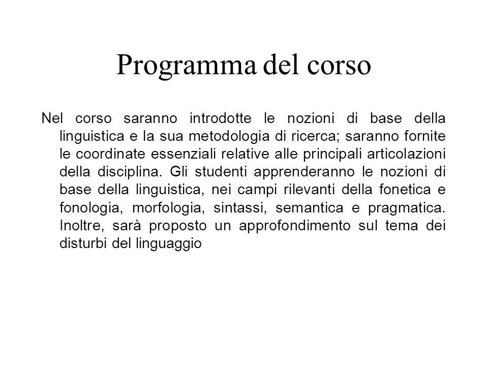 Bibliografia Graffi G., Scalise S.(2013), Le lingue e il linguaggio.