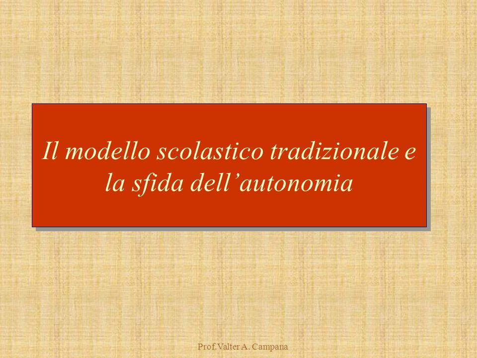 Prof.Valter A. Campana Il modello scolastico tradizionale e la sfida dell'autonomia