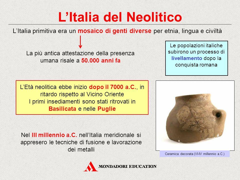 L'Italia del Neolitico Nel III millennio a.C.