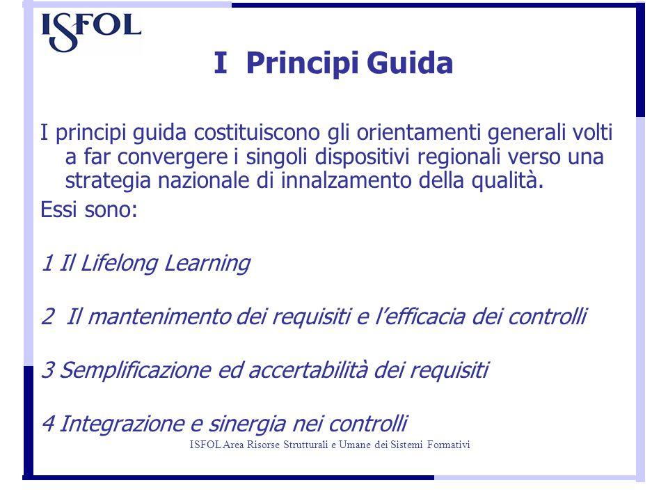 I Principi Guida I principi guida costituiscono gli orientamenti generali volti a far convergere i singoli dispositivi regionali verso una strategia nazionale di innalzamento della qualità.