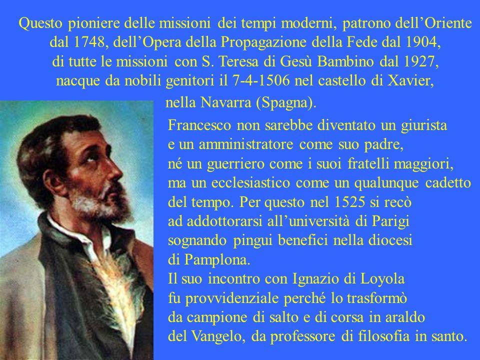 Questo pioniere delle missioni dei tempi moderni, patrono dell'Oriente dal 1748, dell'Opera della Propagazione della Fede dal 1904, di tutte le missioni con S.