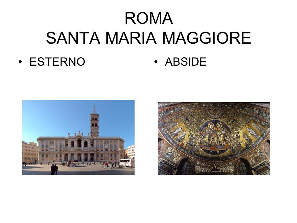 ROMA SANTA MARIA MAGGIORE ESTERNOABSIDE