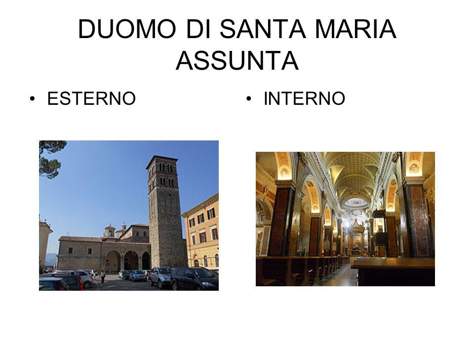 DUOMO DI SANTA MARIA ASSUNTA ESTERNOINTERNO
