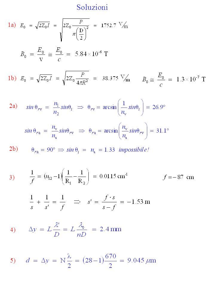 Soluzioni 1a) 2a) 3) 4) 1b) 2b) 5)