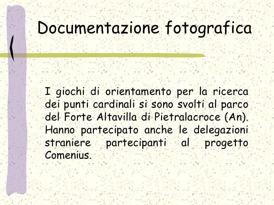 Documentazione fotografica I giochi di orientamento per la ricerca dei punti cardinali si sono svolti al parco del Forte Altavilla di Pietralacroce (An).