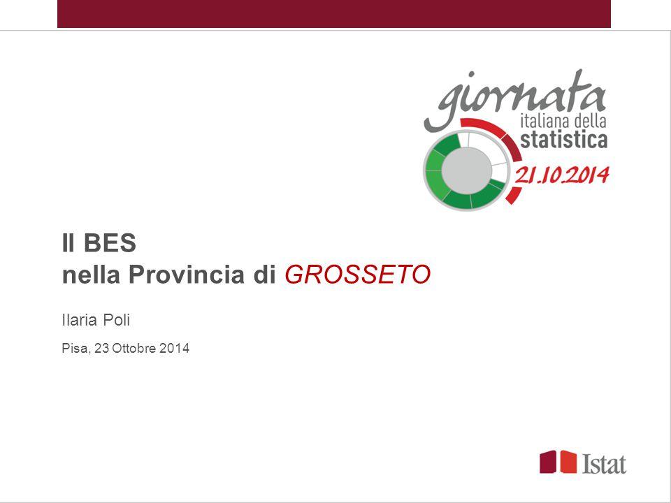 Il BES nella Provincia di GROSSETO Ilaria Poli Pisa, 23 Ottobre 2014