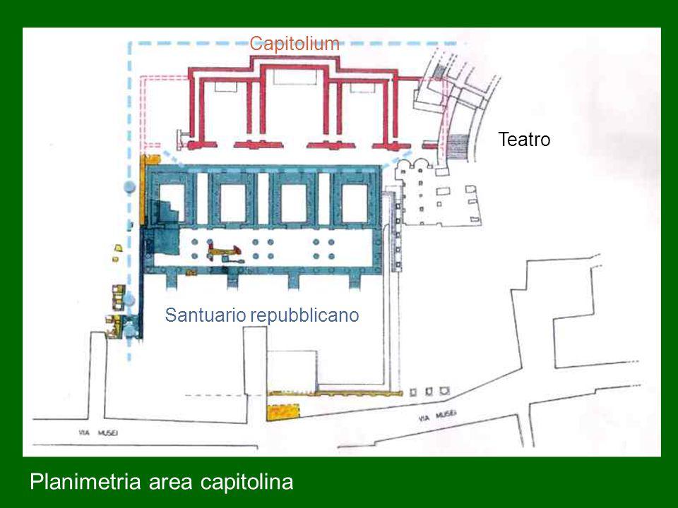 Santuario repubblicano Capitolium Teatro Planimetria area capitolina