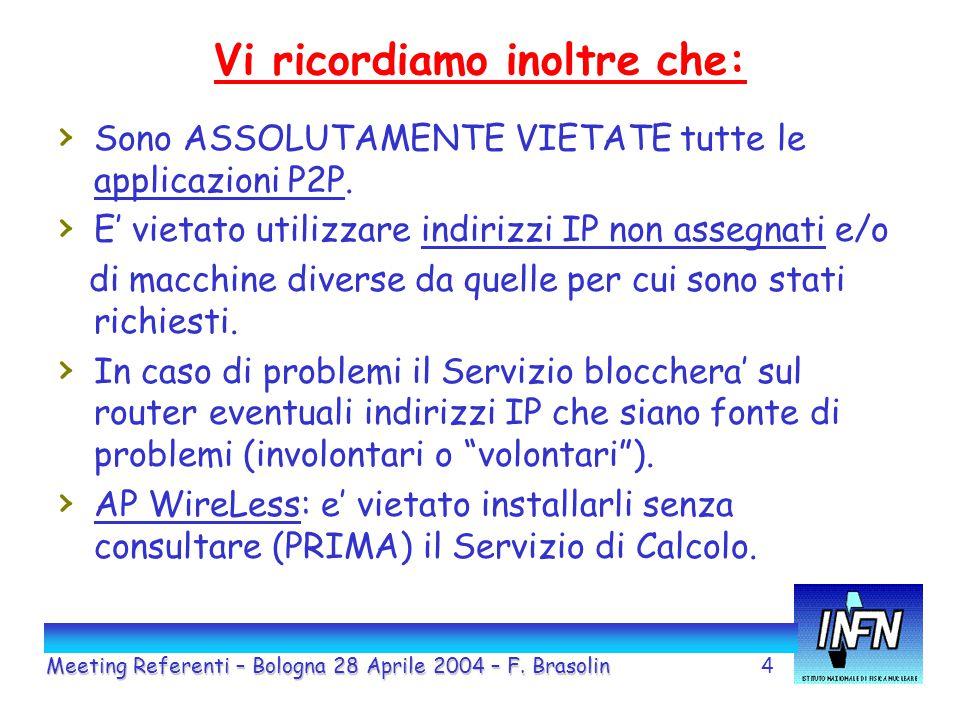 5 MAIL: Meeting Referenti – Bologna 28 Aprile 2004 – F.