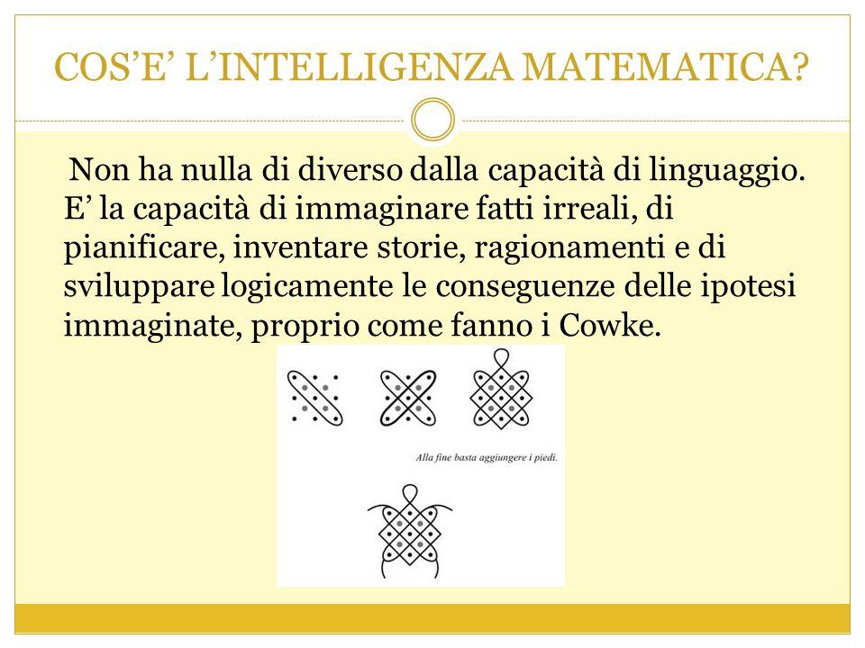 COS'E' L'INTELLIGENZA MATEMATICA. Non ha nulla di diverso dalla capacità di linguaggio.