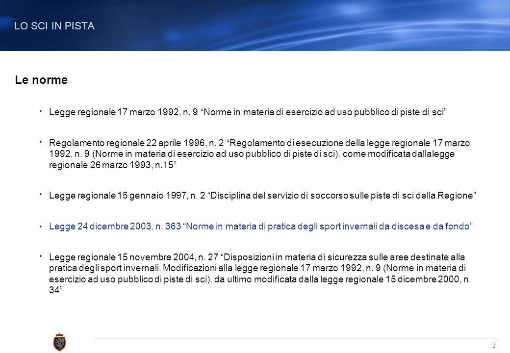 3 Le norme Legge regionale 17 marzo 1992, n.