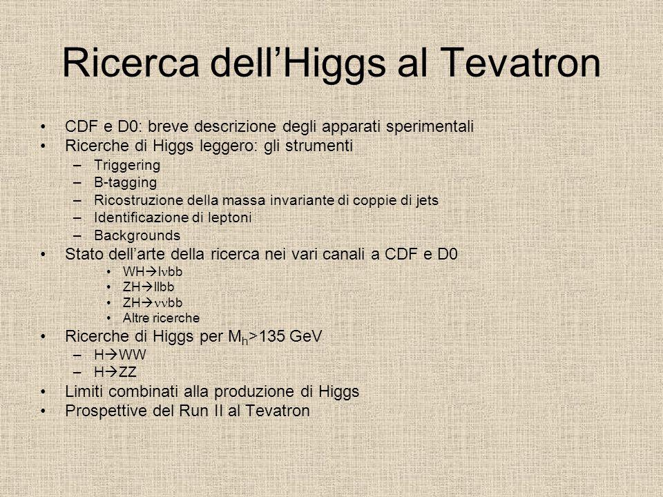 Ricerca dell'Higgs al Tevatron CDF e D0: breve descrizione degli apparati sperimentali Ricerche di Higgs leggero: gli strumenti –Triggering –B-tagging
