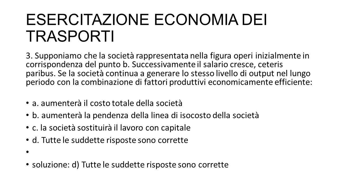 ESERCITAZIONE ECONOMIA DEI TRASPORTI 31.Che cosa si intende per economie di scopo .