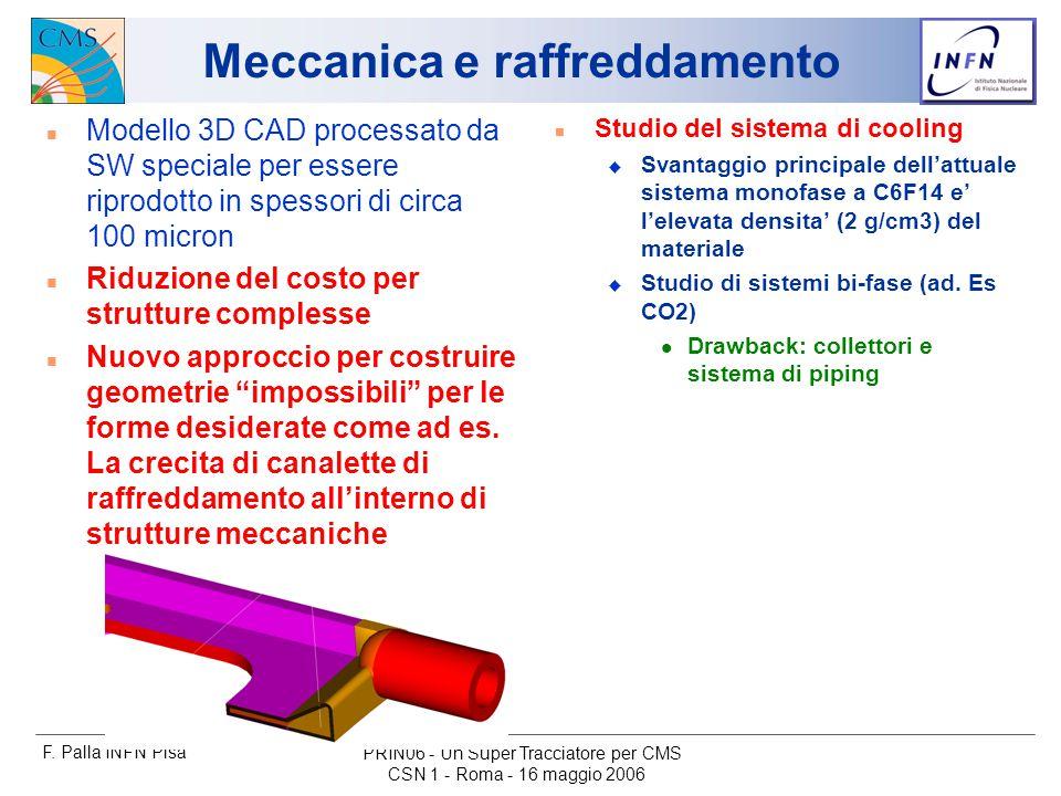 F. Palla INFN Pisa CSN 1 - Roma - 16 maggio 2006 PRIN06 - Un Super Tracciatore per CMS Meccanica e raffreddamento n Modello 3D CAD processato da SW sp