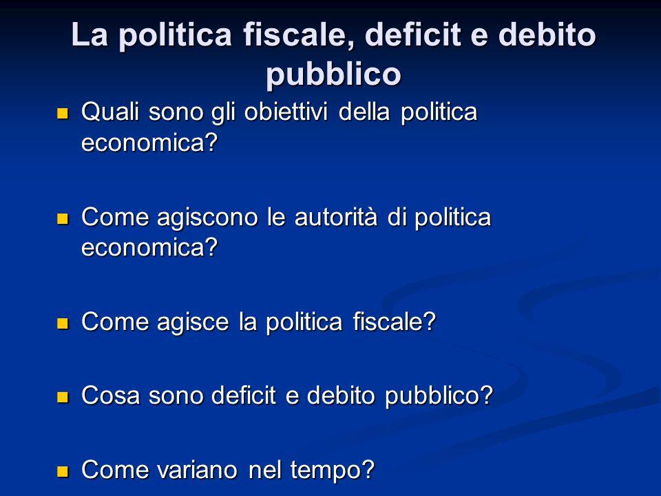 Quali sono gli obiettivi della politica economica.