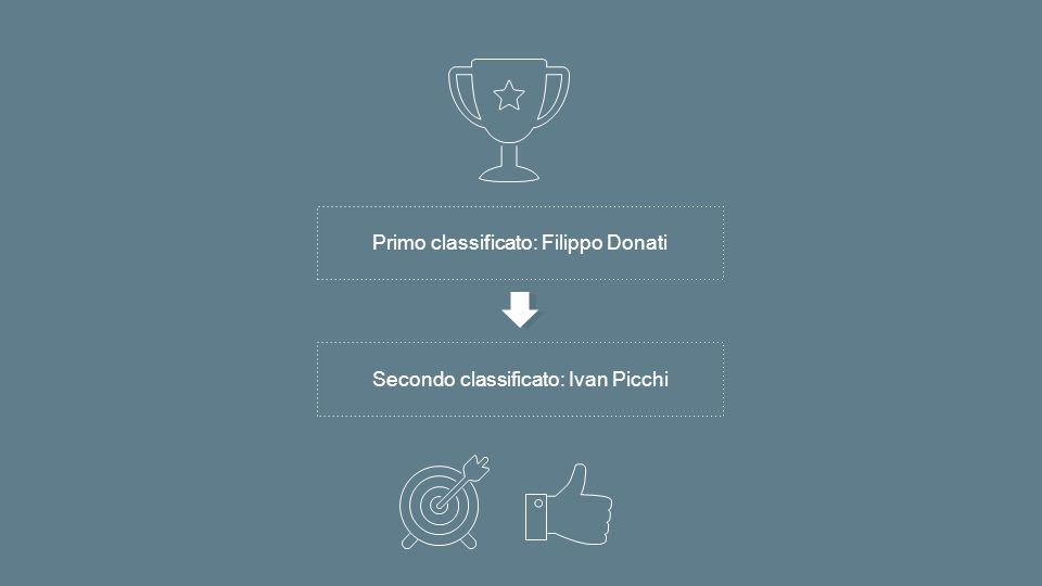 Primo classificato: Filippo Donati Secondo classificato: Ivan Picchi
