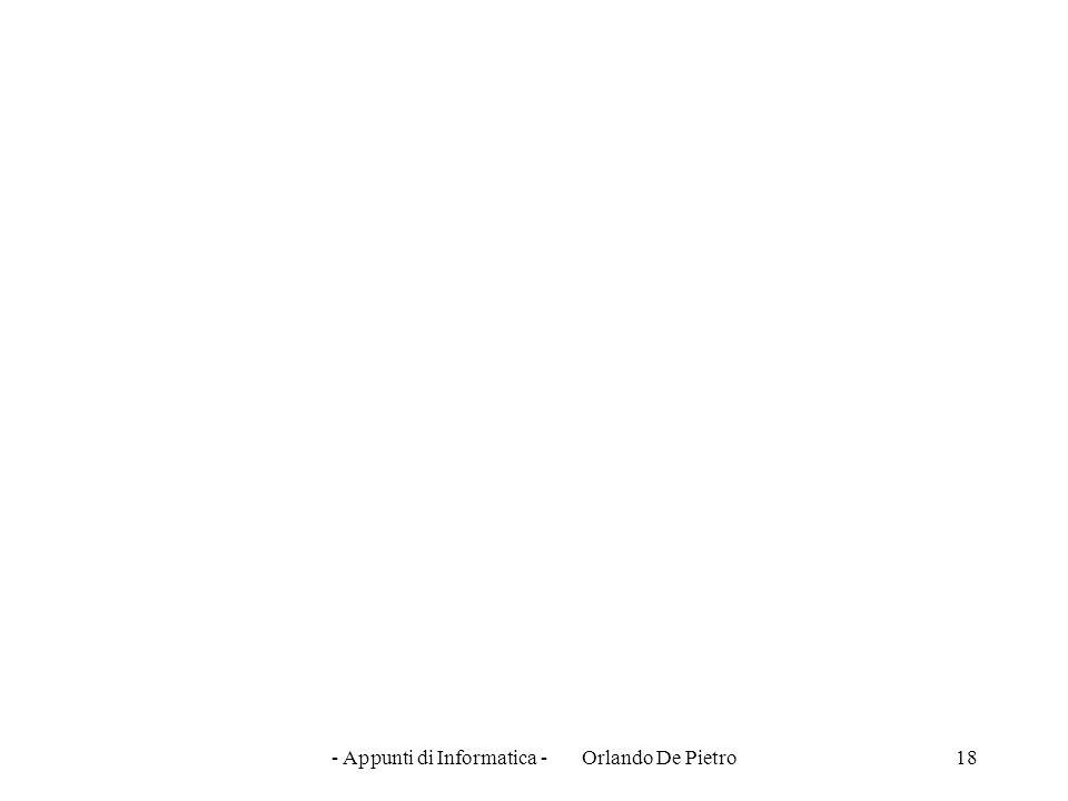 - Appunti di Informatica - Orlando De Pietro18
