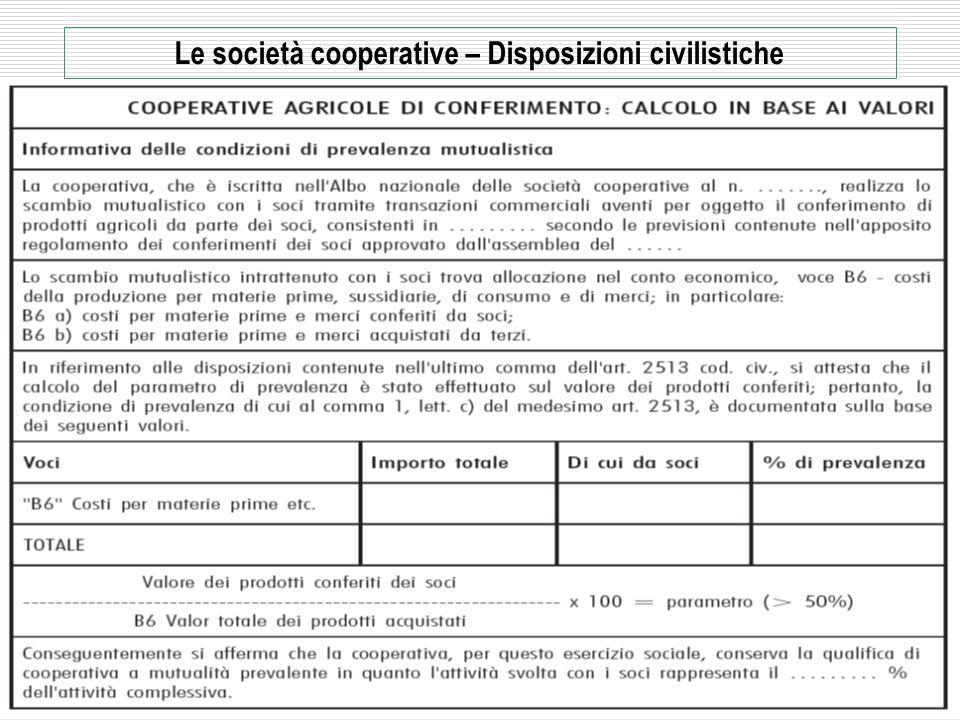 2009 - Rag. Mario Frascarelli - mariofra@mariofra.it 29 Le società cooperative – Disposizioni civilistiche La mutualità – Verifica della prevalenza