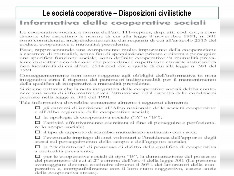 2009 - Rag. Mario Frascarelli - mariofra@mariofra.it 30 Le società cooperative – Disposizioni civilistiche La mutualità – Verifica della prevalenza