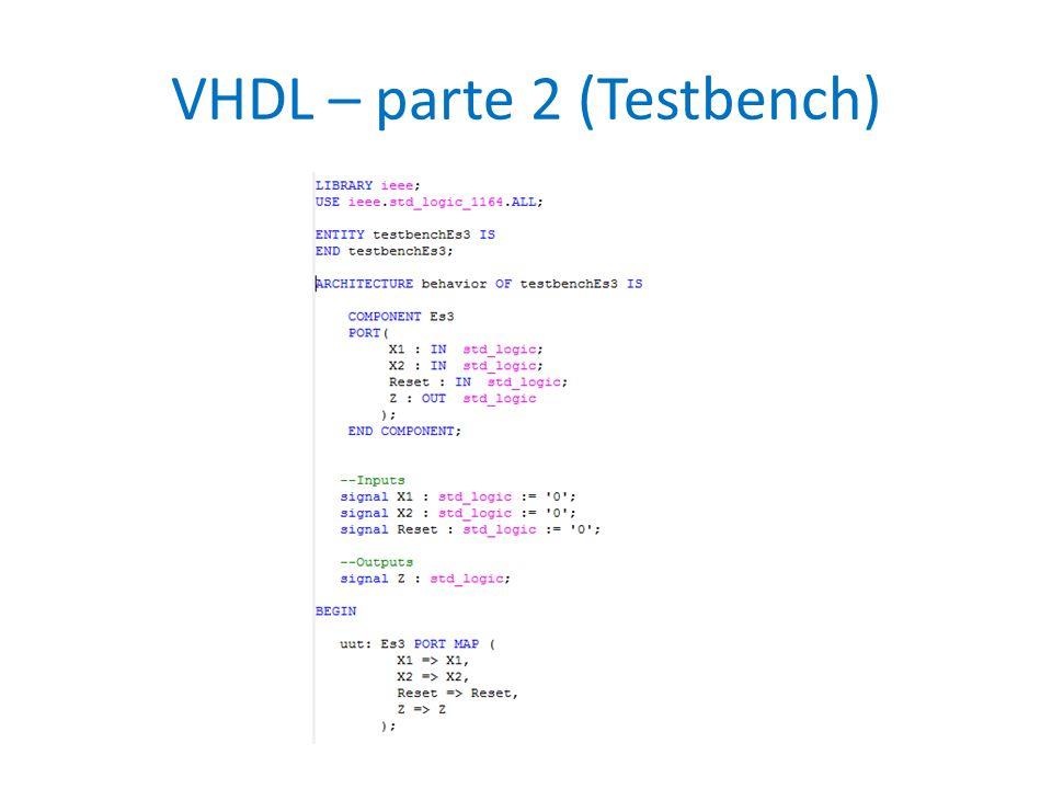 VHDL – parte 2 (Testbench)