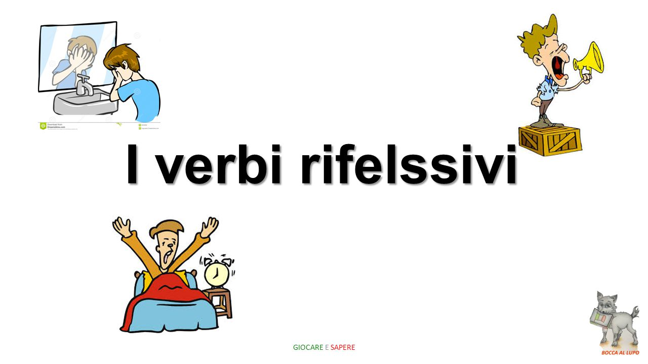 A verb is reflexive when the action carried out by the subject is performed on the same subject.