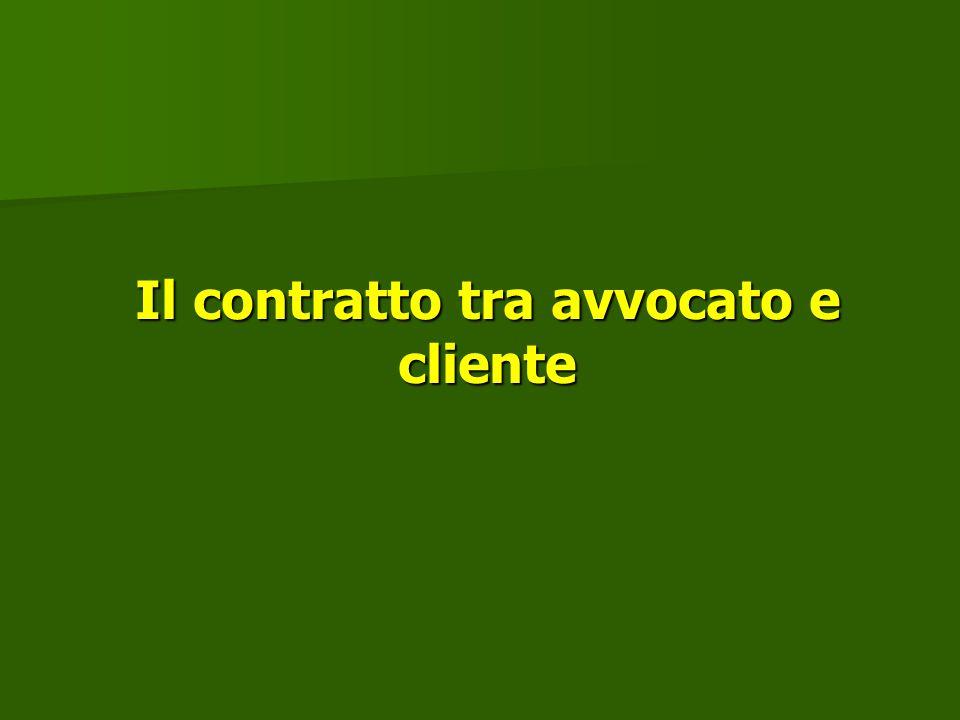 Il contratto tra avvocato e cliente