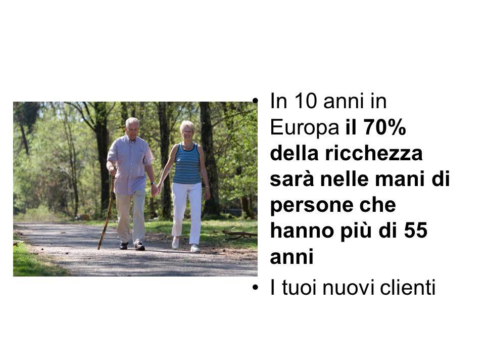 In 10 anni in Europa il 70% della ricchezza sarà nelle mani di persone che hanno più di 55 anni I tuoi nuovi clienti