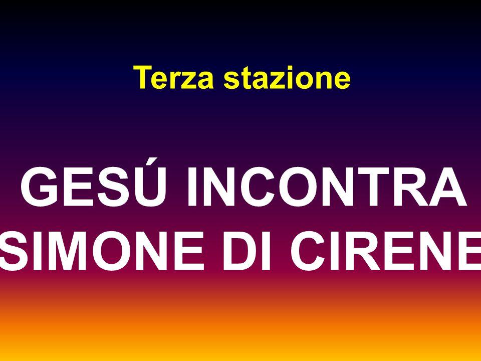 Terza stazione GESÚ INCONTRA SIMONE DI CIRENE