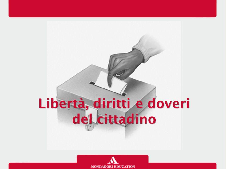 Libertà, diritti e doveri del cittadino Libertà, diritti e doveri del cittadino