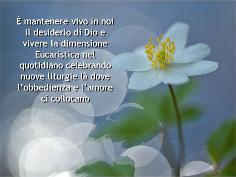 È mettersi semplicemente davanti a Gesù consapevoli della nostra pochezza e della Sua infinità