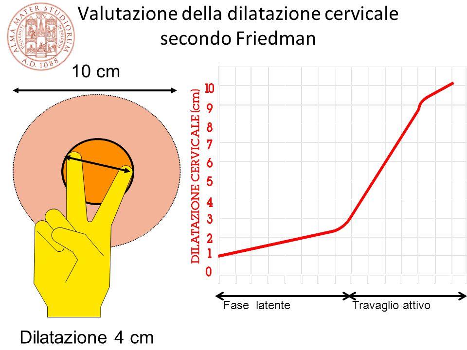 Valutazione della dilatazione cervicale secondo Friedman 10 cm Dilatazione 4 cm Fase latenteTravaglio attivo