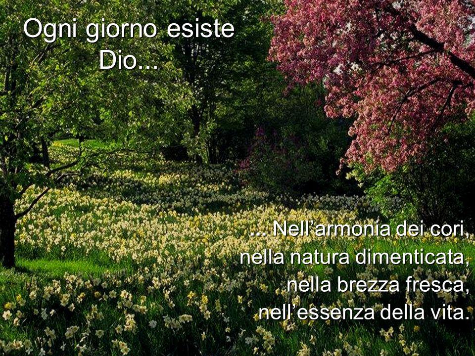 ... Nell'armonia dei cori, nella natura dimenticata, nella brezza fresca, nell'essenza della vita.