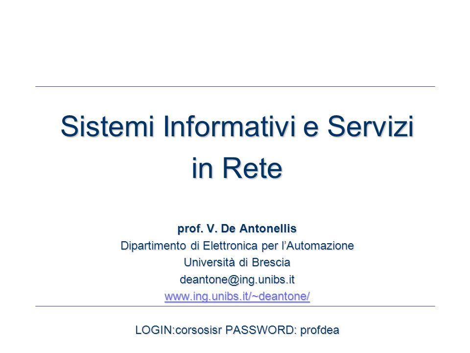 SISR-INTRO - 32 - Metodologie per lo sviluppo di siti Web data-intensive Nei siti Web data-intensive vi sono (molte) pagine con una struttura simile (o identica)  La metodologia WebML (Politecnico di Milano) parte da questa considerazione e propone un approccio basato su definizione di schemi tipo basi di dati