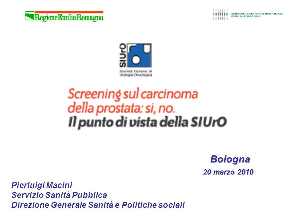 Bologna 20 marzo 2010 Pierluigi Macini Servizio Sanità Pubblica Direzione Generale Sanità e Politiche sociali