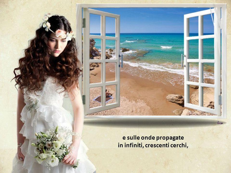 Vorrei lanciare il mio cuore nello specchio del mare