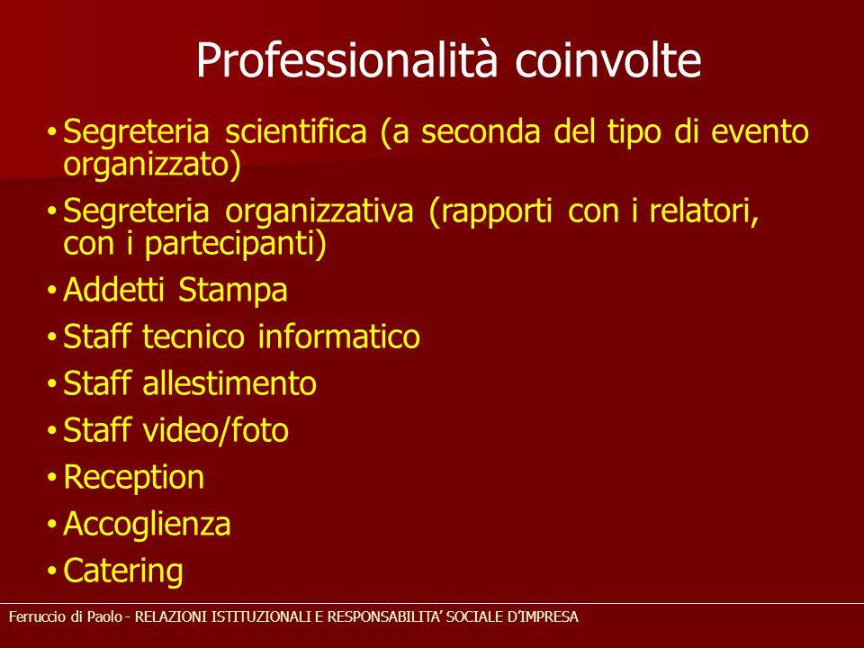 Segreteria scientifica (a seconda del tipo di evento organizzato) Segreteria organizzativa (rapporti con i relatori, con i partecipanti) Addetti Stamp