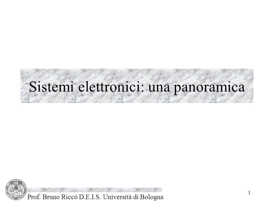 Prof. Bruno Riccò D.E.I.S. Università di Bologna 1 Sistemi elettronici: una panoramica