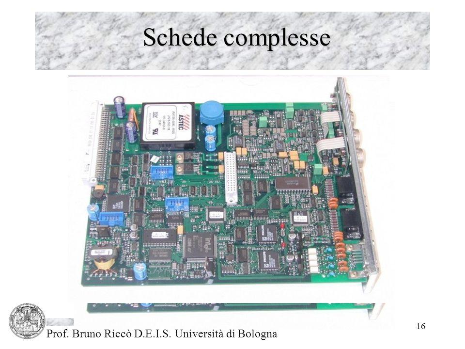 Prof. Bruno Riccò D.E.I.S. Università di Bologna 16 Schede complesse