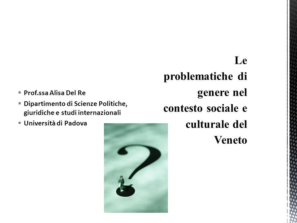  Prof.ssa Alisa Del Re  Dipartimento di Scienze Politiche, giuridiche e studi internazionali  Università di Padova