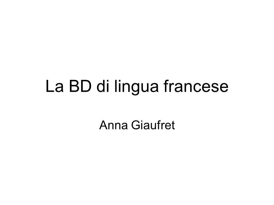 La BD di lingua francese Anna Giaufret
