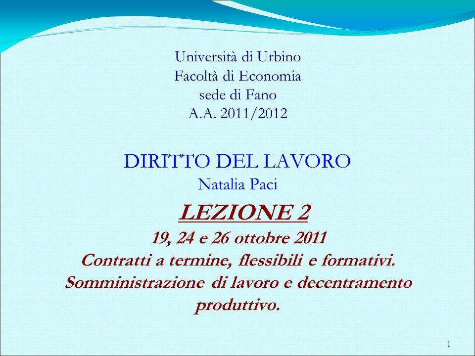 CONTRATTO DI SOMMINISTRAZIONE A TERMINE (artt.20, c.